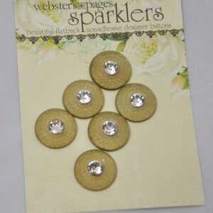 Buttons - Vintage Sparklers - Rhinestone Earth