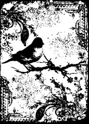 Tim Holtz - Components - Tattered Sparrow - Cling Mounted Rubber Stamps