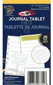 [Pin It] My Little Yellow Bicycle: Say What? Journal Tablet - Faith
