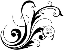 Judikins Rubber Stamp - Calligraphic Flourish