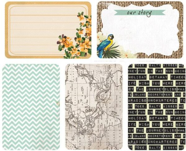 """Captured Moments - 4""""X 6"""" Double-Sided Cards - Getaway"""