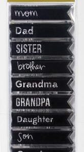 Family Ties - Stamps - Words