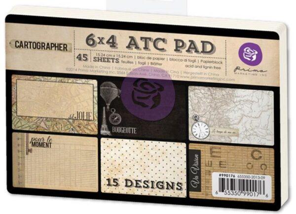 """Cartographer Collection - ATC Cards - 4""""X 6"""""""