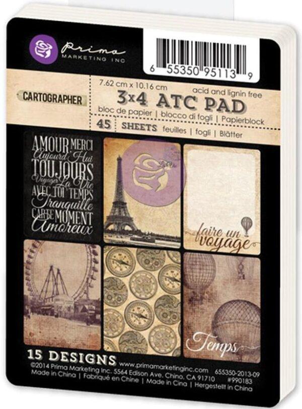 """Cartographer Collection - ATC Cards - 3"""" x 4"""""""