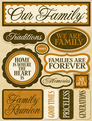Reminisce - Our Family - Signature 3D Stickers