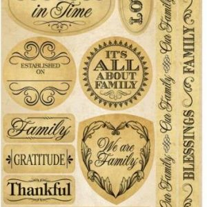 Reminisce - Signature Die-Cut Stickers - Family