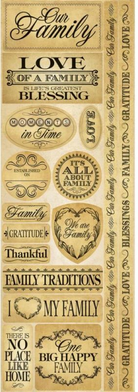 Reminisce - Signature Die-Cut Stickers - Family