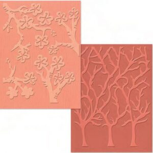 Embossing Folder - A2 - Cherry Blossoms & Trees