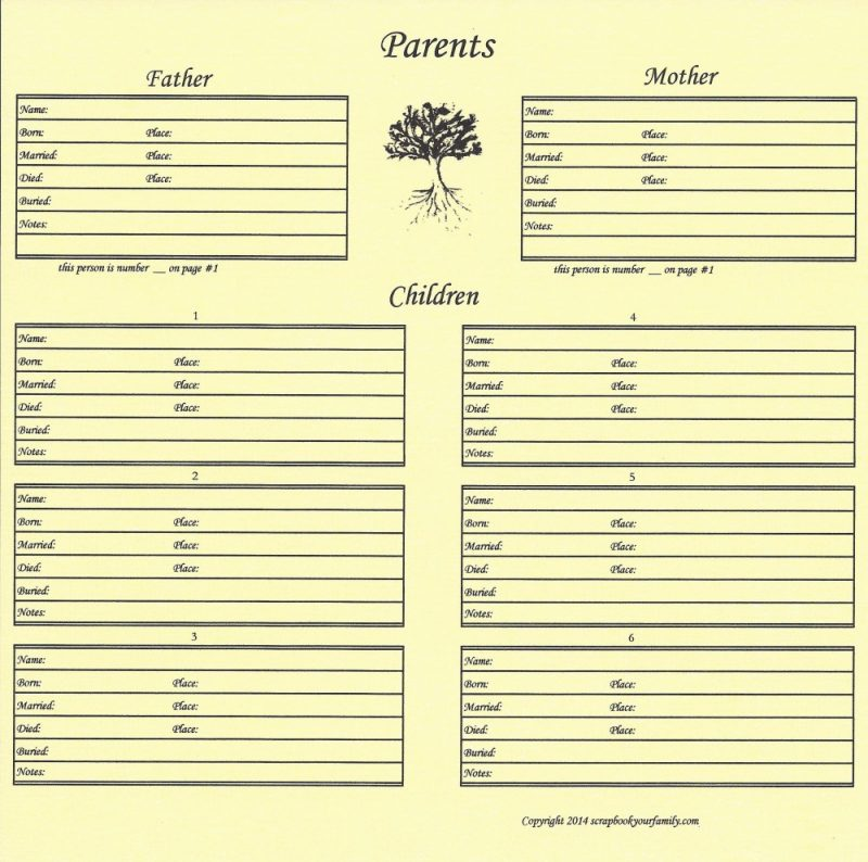How to scrapbook your family tree - How To Scrapbook Your Family Tree 59