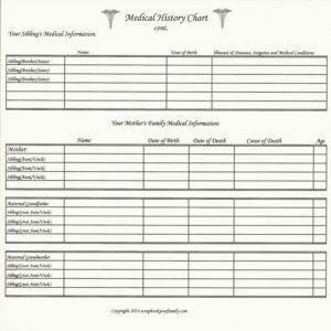 """Our Roots - Medical History Chart B - 8"""" X 8"""""""