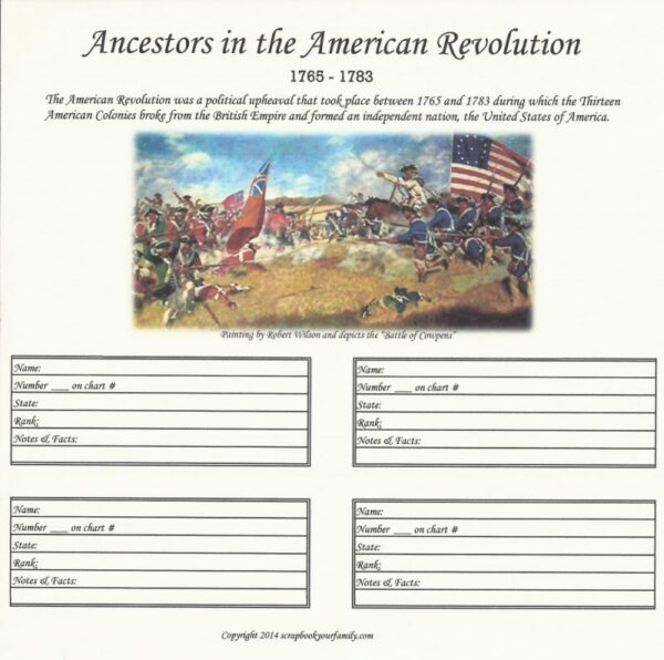 Our Roots - Revolutionary War Ancestors 1