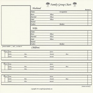 """Our Roots - Family Group Chart 4A - 8"""" x 8"""""""