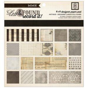 "Lost & Found Record It! Paper Pad 6""X6"" - Antique"