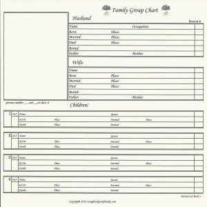 """Our Roots - Family Group Chart 5A - 8"""" x 8"""""""