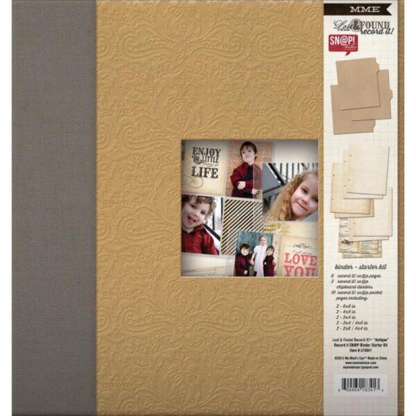 "Lost & Found Record It! Album Starter Kit 8""x 6"" - Antique"