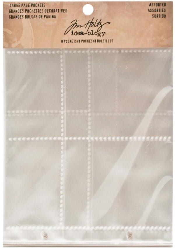 Idea-Ology 2-Hole Page Pockets - Assorted Landscape
