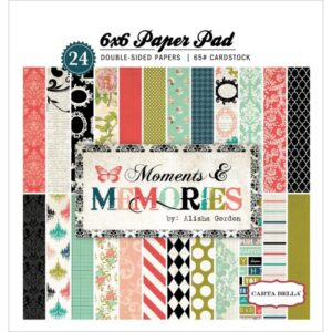 Moments & Memories – Paper Pad – 6″x 6″