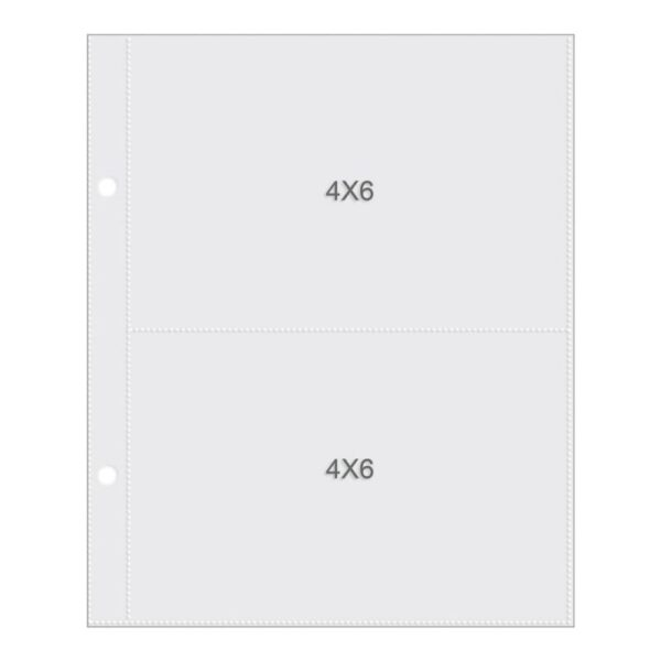 "Sn@p! Pocket Page For 6""X 8"" Binders - (2) 4""x 6"" Pockets"