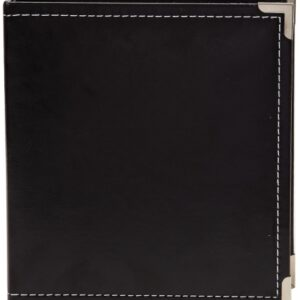 "Sn@p! Leather Binder 6""X8"" - Black"