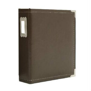 "Sn@p! Leather Binder 6""X8"" - Brown"