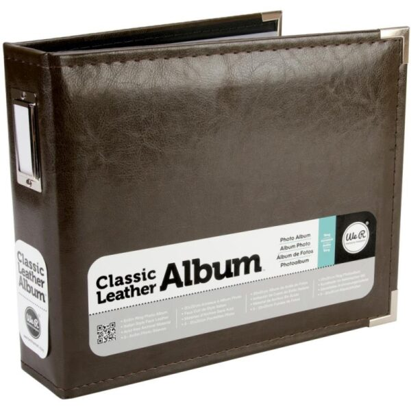 """We R Classic Leather Ring Binder - 8""""x 8"""""""