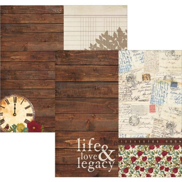 """Legacy - Elements - 6""""X12"""" Journaling Cards"""