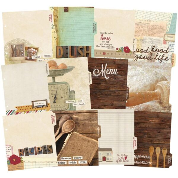 """Sn@p! Legacy - Recipe Divider Pages 6""""x 8"""""""