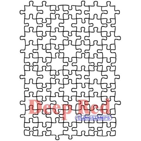 Deep Red - Cling Stamps - Puzzle Background
