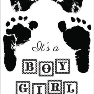 Pitter Patter - Clear Stamps - Boy & Girl