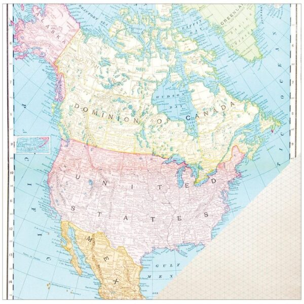 Crate Paper - Travel - North American Map
