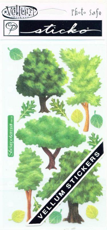 Trees Stickopotamus Vellum Stickers