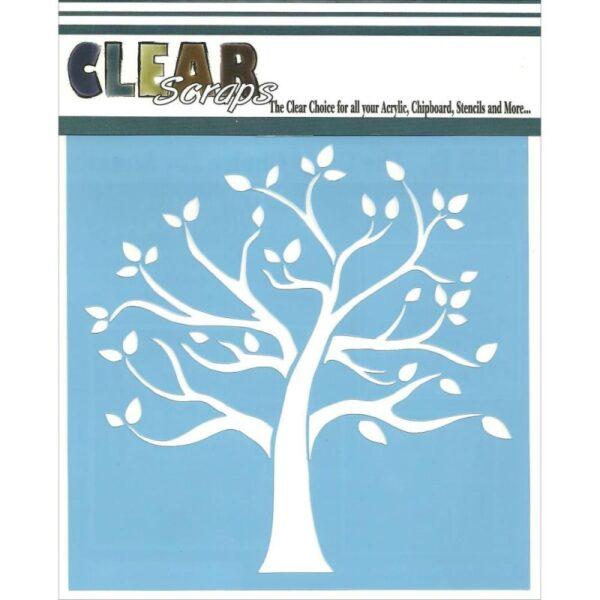 Clear Scraps - Stencil - Family Tree