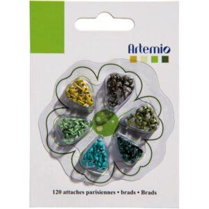 Artemio - Greens - Mini Brads