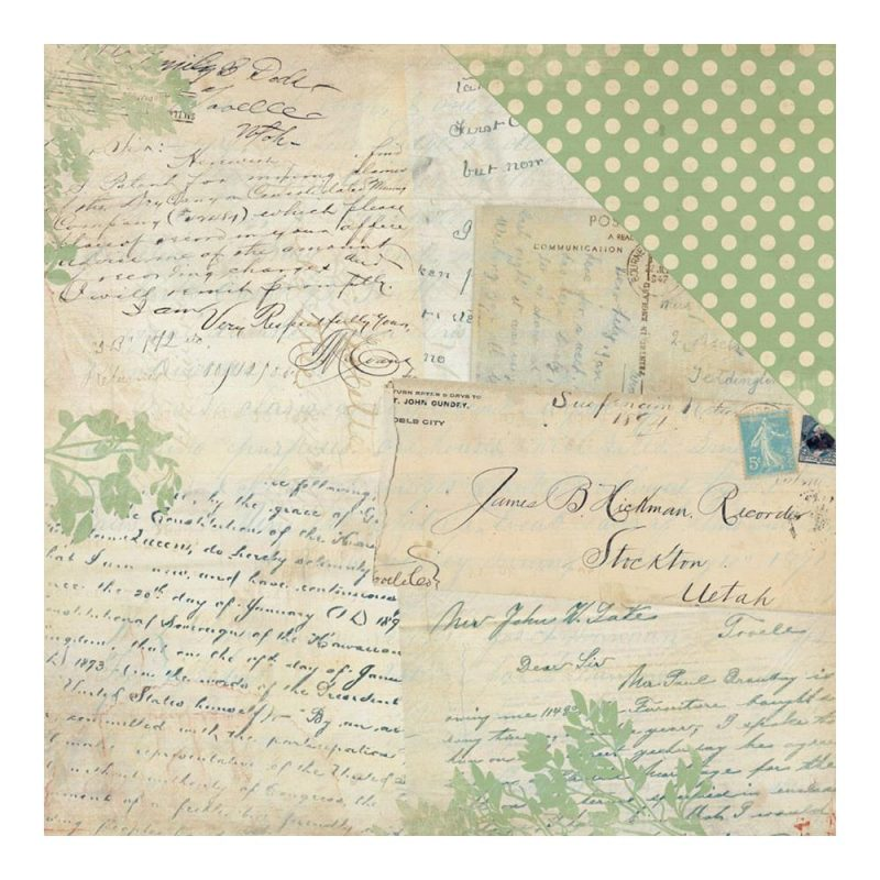How to scrapbook your family tree - Legacy History Letters Postcards Simple Dot Scrapbook Your Family Tree