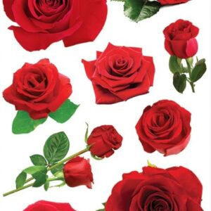 Paper House 3D Stickers - Red Roses