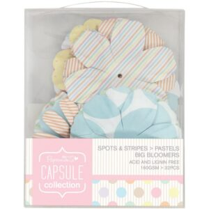 Papermania Spots/Stripes Pastels Big Bloomers Flowers