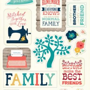 The Story Of Our Family – Chipboard Accents 6″X13″