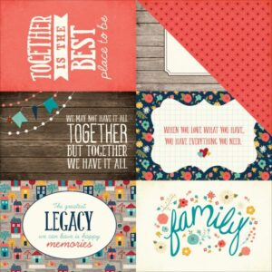 "The Story Of Our Family - 4""X6"" Journaling Cards"