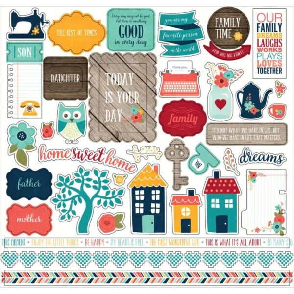 """The Story Of Our Family - Cardstock Stickers 12""""X12"""""""