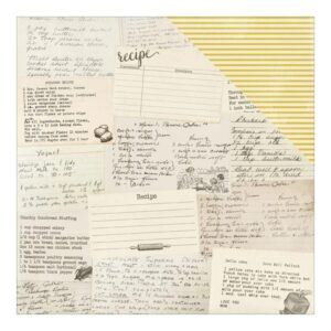 Homestead Collection - Secret Family Recipe Cards/Yellow Stripe