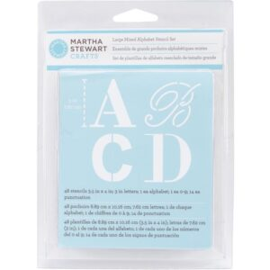 Martha Stewart - Large Mixed Alphabet Stencil Set