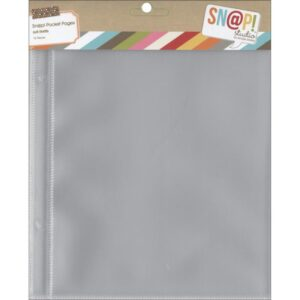 "Sn@p! Pocket Page For 6""X 8"" Binders - (1) 6""X8"" Pocket"