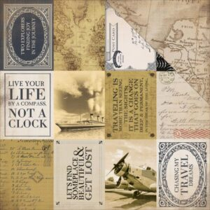 "Transatlantic Travel - 3""X 4"" Journaling Cards"