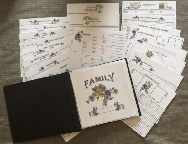"Family Genealogy Kit A - 8"" x 8"""