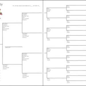"Family - 6"" x 8"" - 6 Generations Pedigree Chart 2"