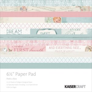 "Pitter Patter - Paper Pad - 6.5"" x 6.5"""