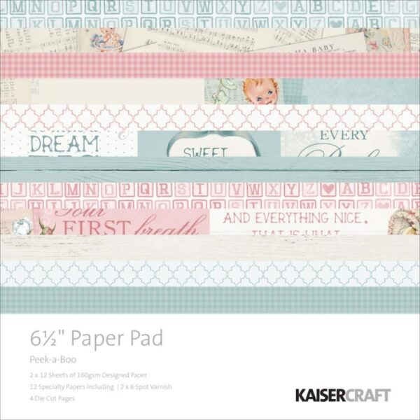 """Pitter Patter - Paper Pad - 6.5"""" x 6.5"""""""