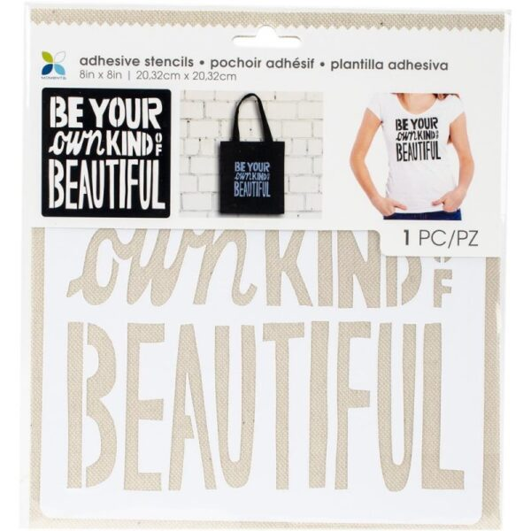 """Be Your Own Kind of Beautiful - Stencil 8""""x 8"""""""