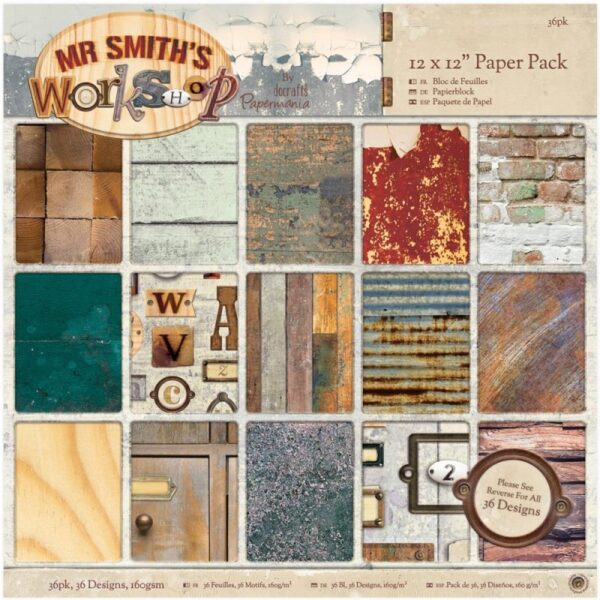 """Papermania - Mr. Smith's Workshop Pack 12""""X 12"""""""