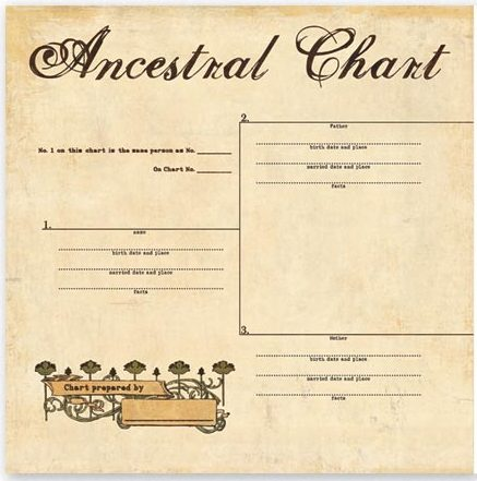 for the record collection ancestral chart scrapbook your family tree